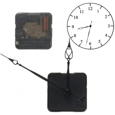 Replacement Retro Quartz Clock Movement Mechanism Motor With Hands And Fitting