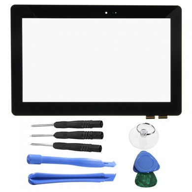 Touch Screen Digitizer Glasobjektiv für ASUS T100 / T100TA 10,1 Zoll mit Home Key Tools