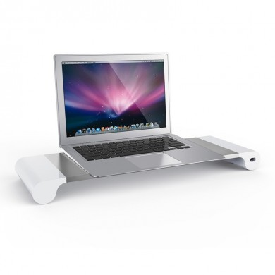 Aluminium Alloy Base Holder Smart 4 USB Port Charger Stand for Macbook Desktop Laptop