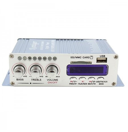 Kentiger HY502 Blue 12V 40W Hi-Fi LED Car Stereo Amplifier