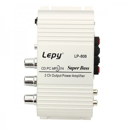 Lepy LP808 Car Motorcycle 12V CD DVD Car Audio Mini Hi-Fi Stereo Audio Power Amplifier