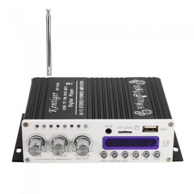 Kentiger HY-V10 Mini Bluetooth Hi-Fi Stereo Amplifier Bass Booster MP4 12V for Car Motorcycle