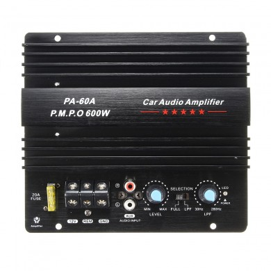 600W High Power Audio Momo amplifier Board Car Home Subwoofer Super Bass Amp 12V