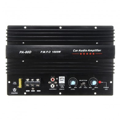 12V 1000W Mono Car Audio Power Amplifier Powerful Bass Subwoofers Amp