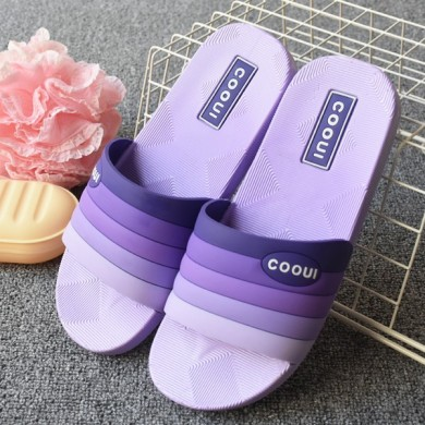 Unisex Colorful Slip On Casual Indoor Home Slippers