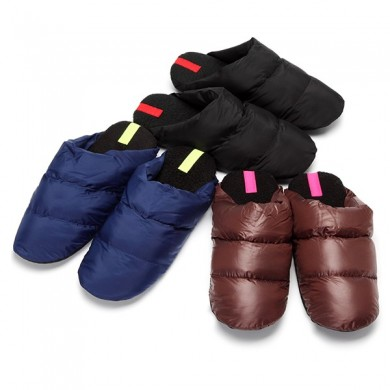 Slip On Down Warm Winter Home Indoor Slippers For Men