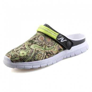 Men Slipper Shoes Breathable Flower Beach Outdoor Sandals