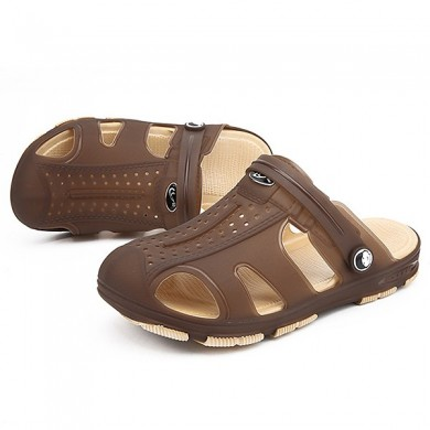 Men Breathable Hollow Outs Beach Slippers Sandals