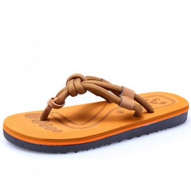 Men Soft Sole Clip Toe Slippers Summer Beach Shoes