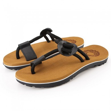 Men Casual Soft Sole Stylish Clip Toe Slippers Beach Shoes